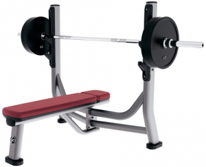 LIFE FITNESS Signature Bench-Rack Olympic Flat Bench SOFB s